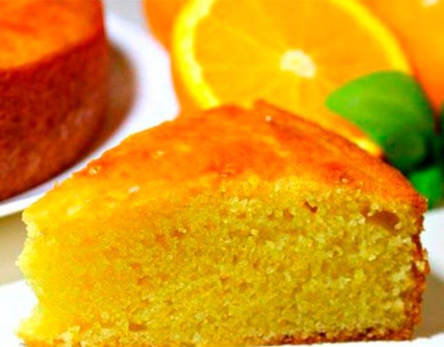 Bizcocho de naranja sin huevos