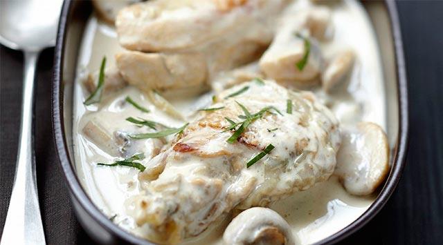 Pechuga de pollo con champiñones