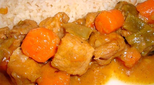 Cerdo al curry