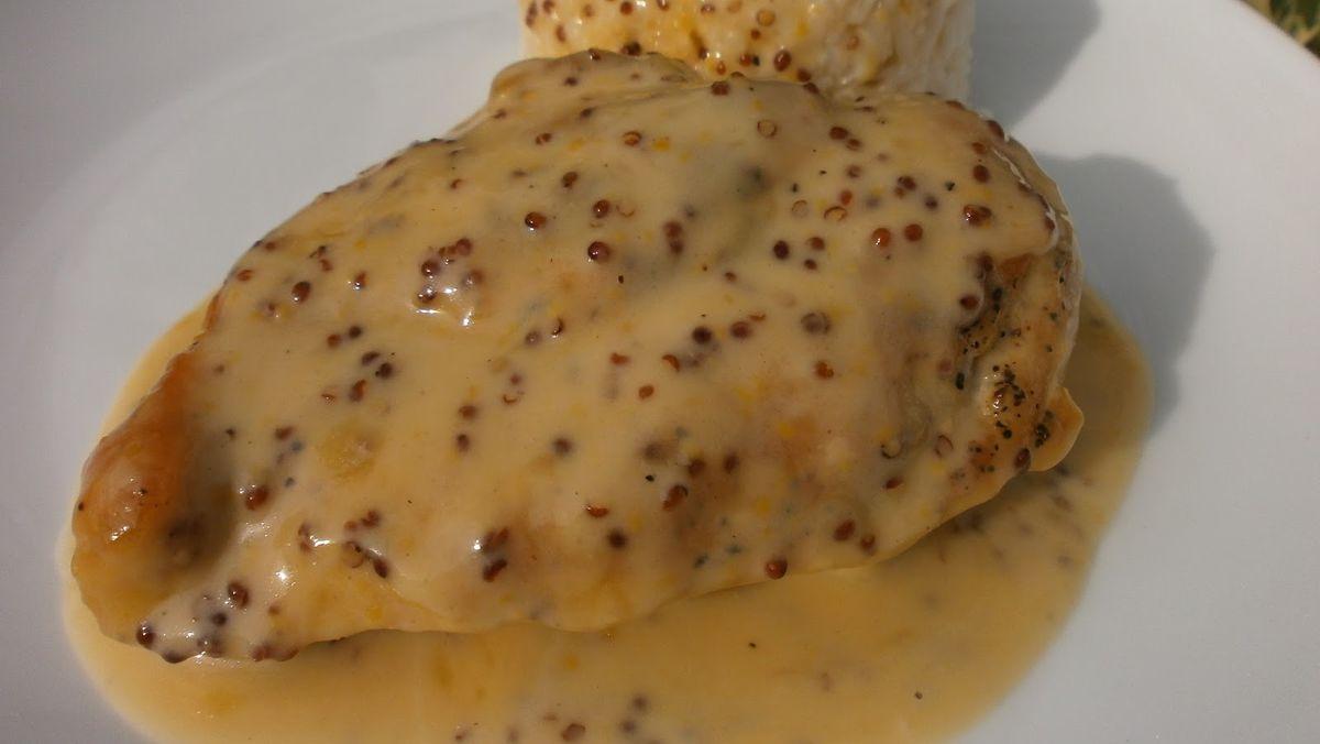 Pechugas de pollo con salsa de mostaza