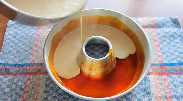 Flan de café sin horno