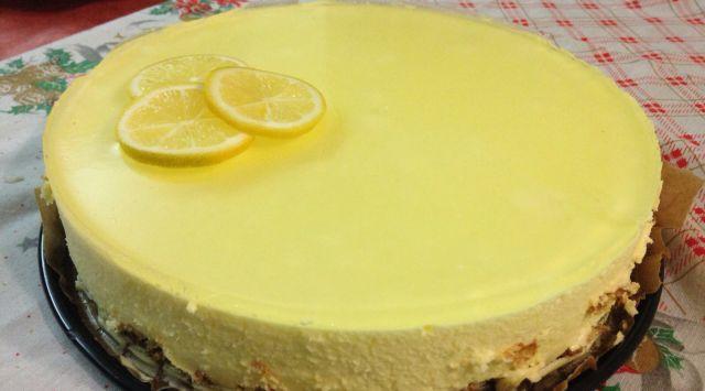 Tarta de limón y galletas