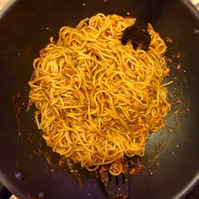 Espaguetis con Atún