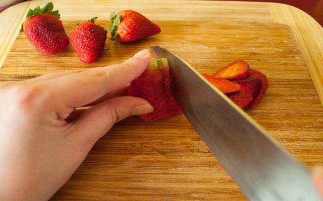 Tarta rápida de fresas