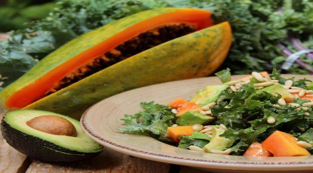 Ensalada con Papaya