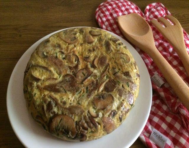 Tortilla con Portobello y Queso Azul
