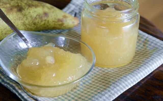 Mermelada de pera y canela