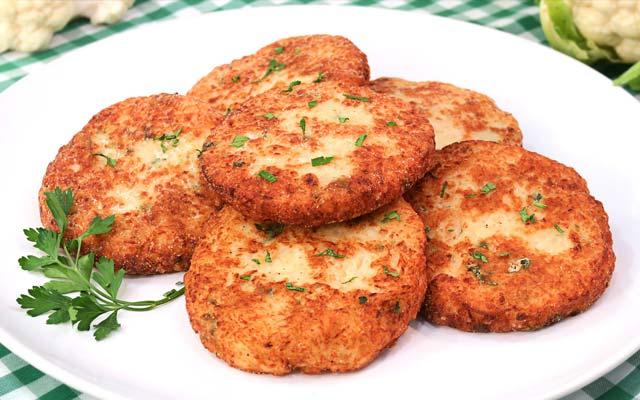 Fritos de coliflor sin harina