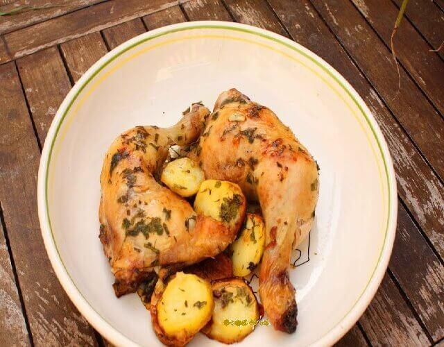 Trasero de pollo al horno