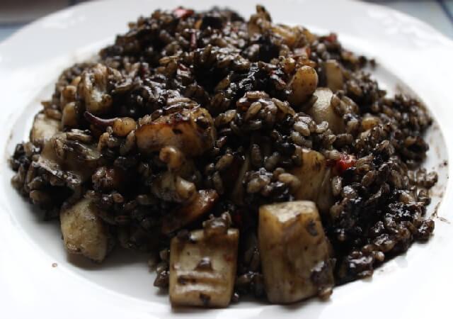 arroz venere con sepia