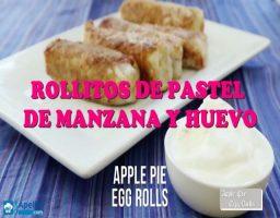 Rollitos de Pastel de Manzana y Huevo