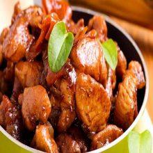 Pollo marinado en soja