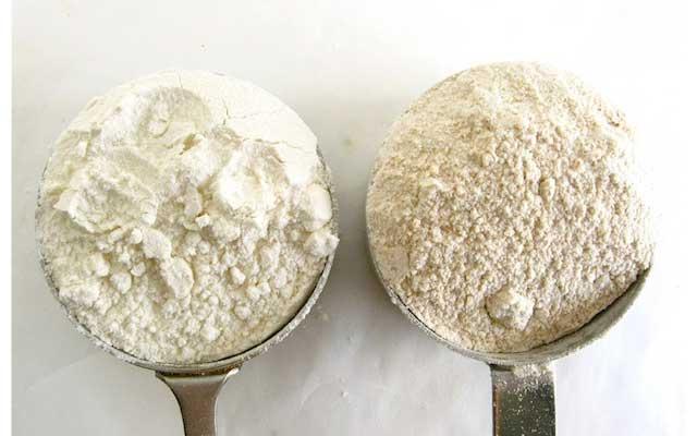 Cual es la diferente entre harina de fuerza y harina normal