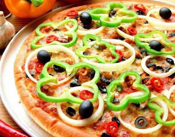 Pizza vegetal deliciosa