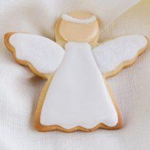 Galletas de navidad de ángel