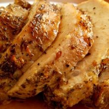 Lomo de cerdo asado