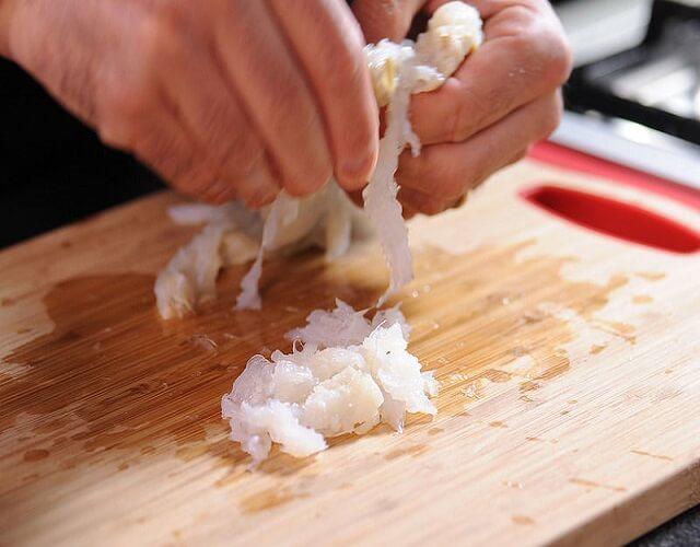 Ensalada fría de alubias blancas con bacalao
