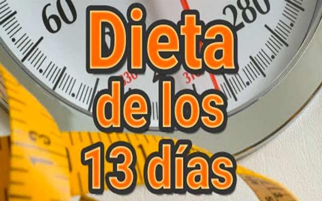 La dieta de los 13 días