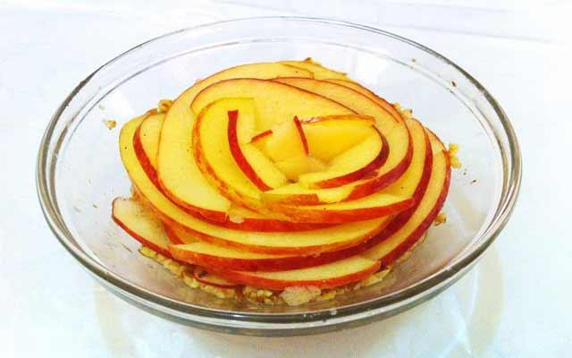 Pudin de manzana sin horno