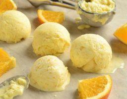 Helado de naranja casero