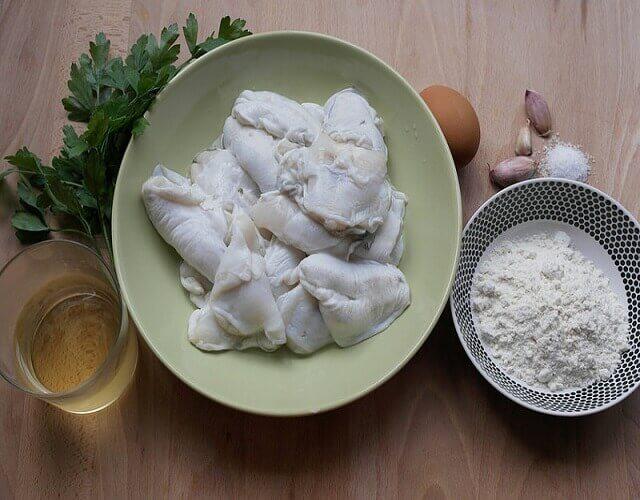Cocochas de bacalao en salsa