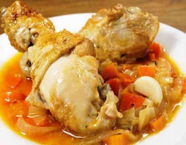 Pechugas de pollo en escabeche