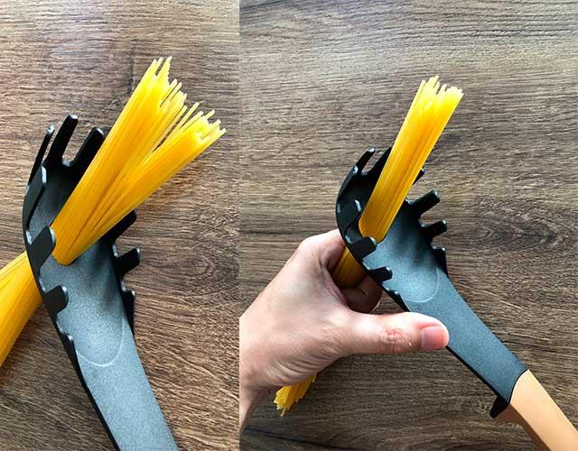 ¿Para qué sirve el agujero de la cuchara de espaguetis?