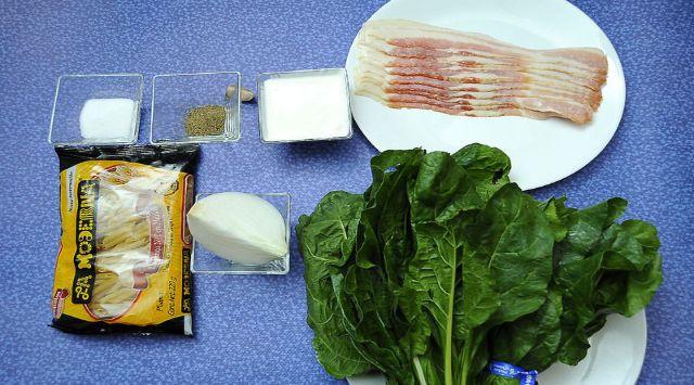 Acelgas Fritas con Bacon