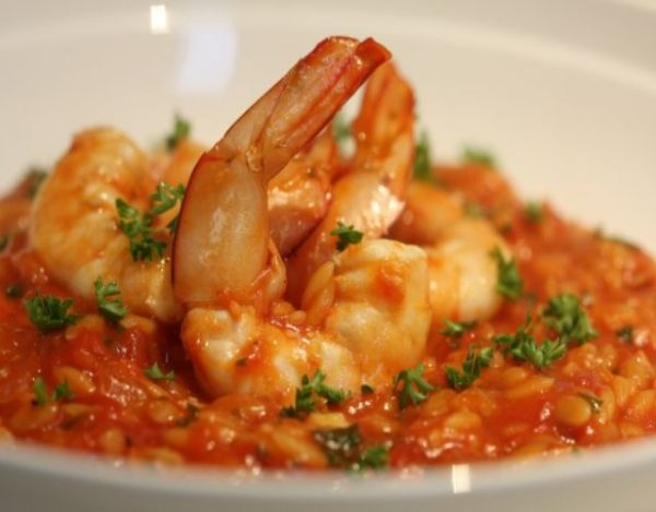 Gambas con Tomate