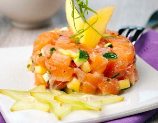 Tartar de Salmón y Mango