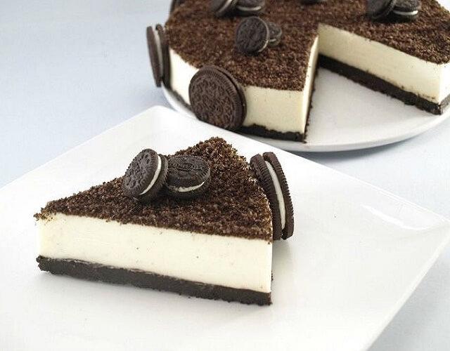 Tarta helada de chocolate blanco