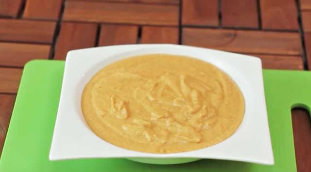 Hummus de pimiento asado