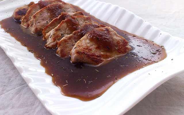 Solomillo con salsa de jengibre