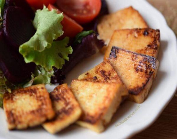 Tofu con salsa de soja