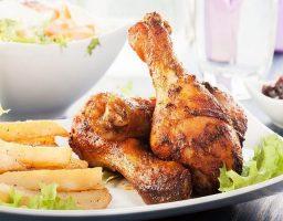 Pollo asado al microondas