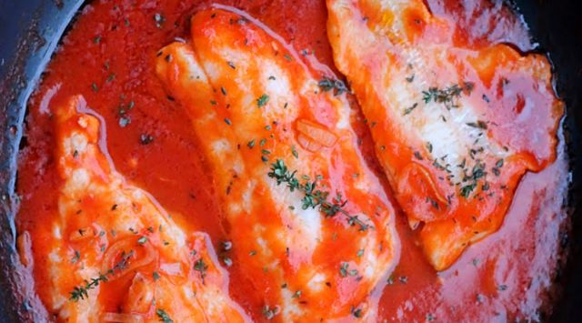 Merluza con Tomates
