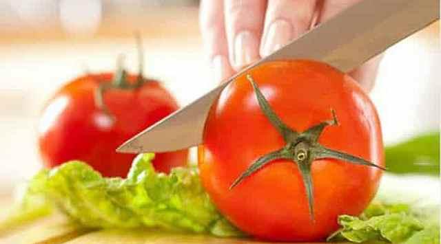 Carpaccio de tomate con parmesano
