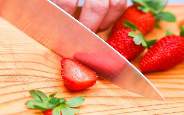 Helado vegano de fresa