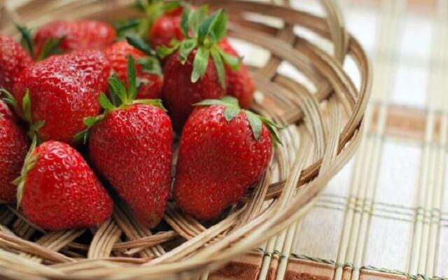 Crema de fresas para tartas