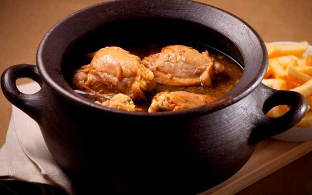 Pollo al coñac