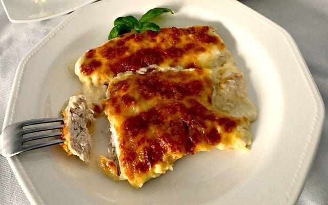 Pollo gratinado con queso