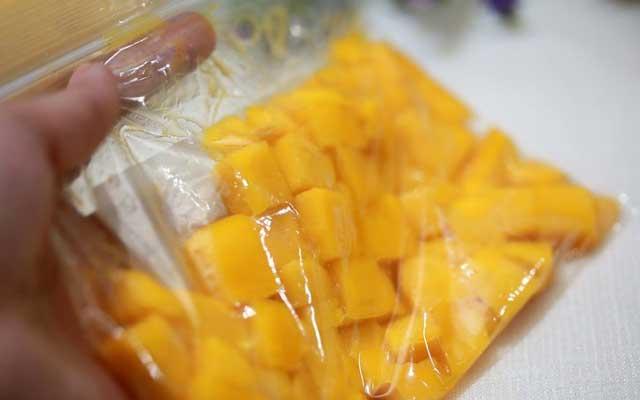 Helado de mango casero