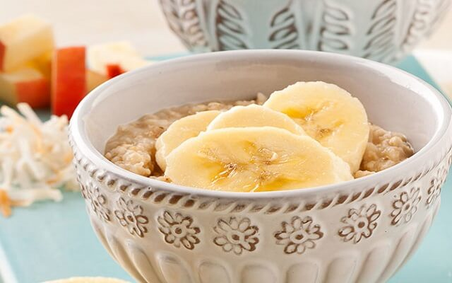 Yogur de plátano y nueces