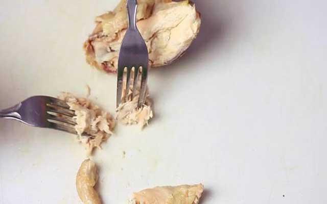 Arroz seco con pollo