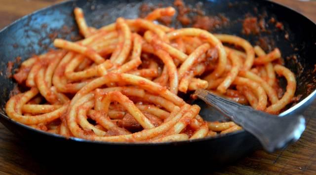 Espaguetis Amatriciana