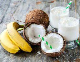 Batido de plátano y coco