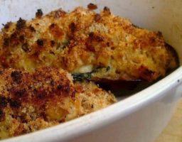 Berenjenas con queso al horno