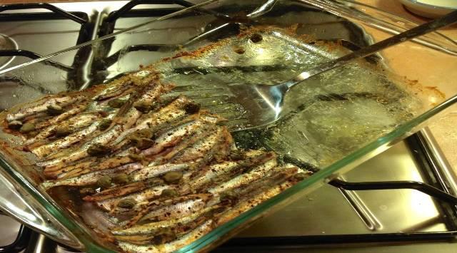 Receta boquerones al horno dieta