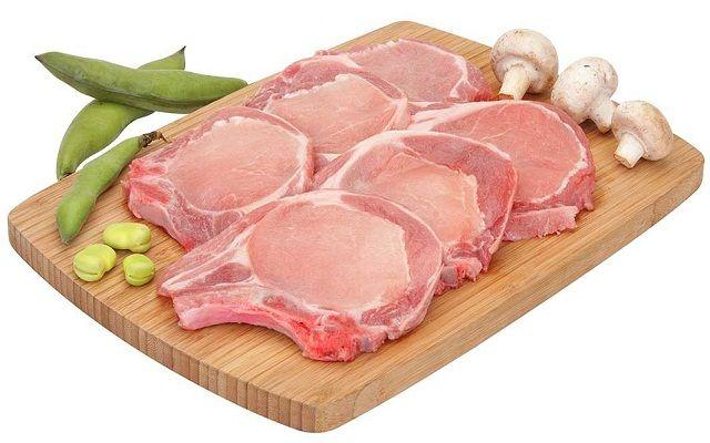 Chuletas de cerdo asadas
