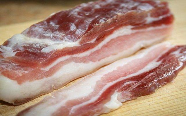 Bacon frito crujiente